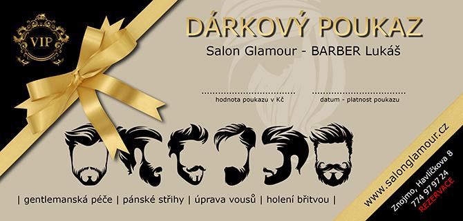 Salon Glamour - dárkový poukaz - BARBER Lukáš